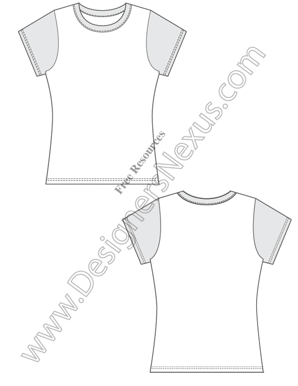 001-fitted-free-t-shirt-template-vector-design-sketch