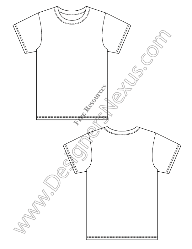 002-free-blank-t-shirt-design-template-vector-sketch-preview