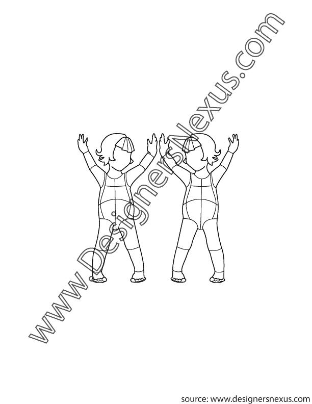 002- kids infant front childrens croqui pose