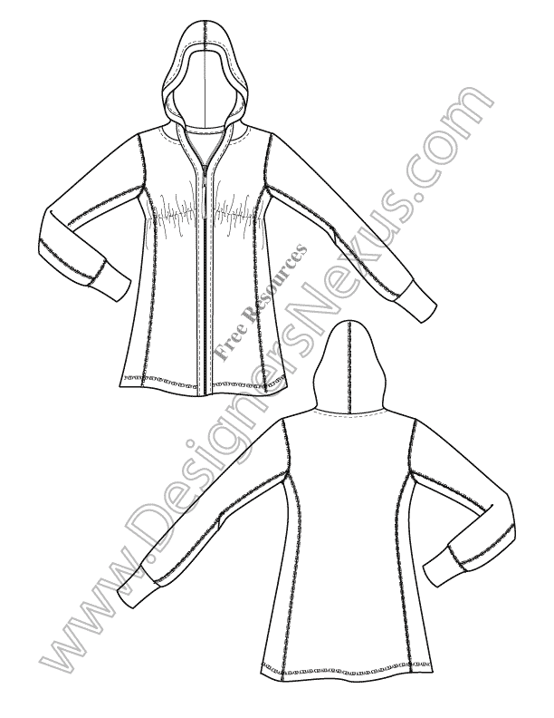 003-knit-hoodie-Illustrator-fashion-technical-drawing-preview