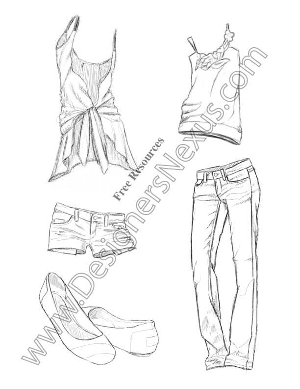 fashion sketch v4 freehand apparel fashion drawing