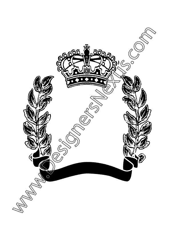 008- free vector graphic heraldic crest scroll banner olive branches
