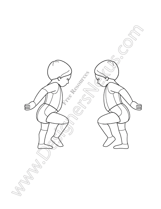 v17 infant toddler free kids croqui template designers nexus - Drawing Template For Kids