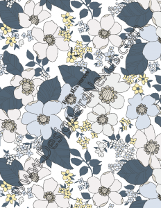 018- Free seamless digital pattern swatch floral print