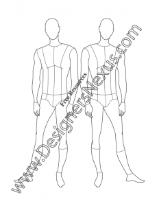 018- male fashion figure front pose