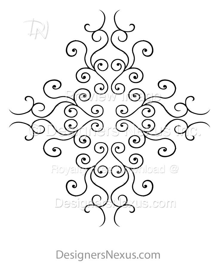 024 Stencil graphics swirls preview image