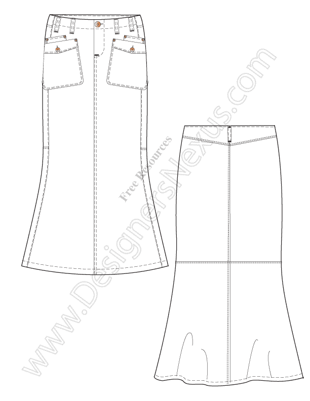 051-free-illustrator-maxi-skirt-flat-drawing