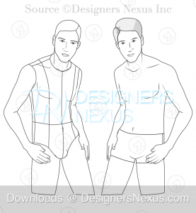 055 fashion croqui template male preveiw image