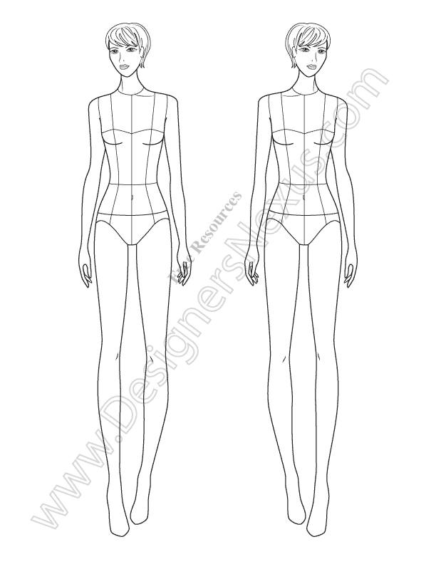 V68 Fashion Illustration Template - Designers Nexus