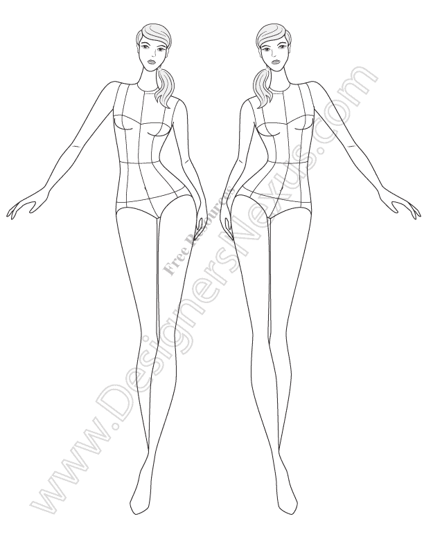 Female Croquis 60 Free Fashion Figure Templates