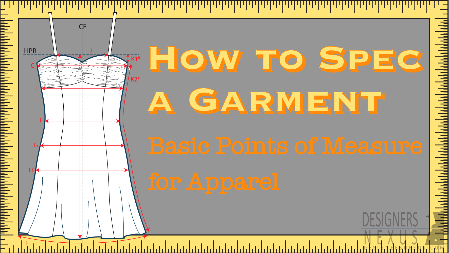 How To Spec A Garment Basic Points Of Measure For Apparel Designers Nexus