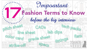 Learning the Lingo: Fashion Terms