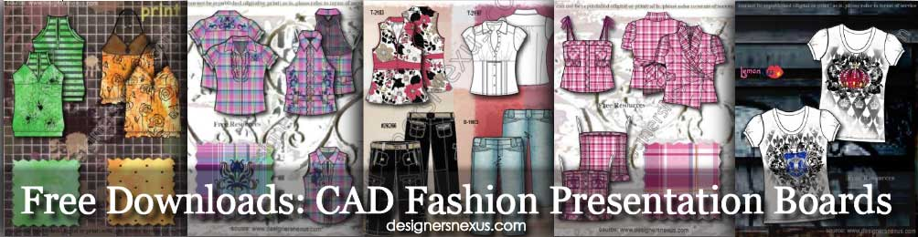 free cad fashion presentation boards examples, Presentation templates