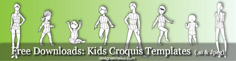 Free-Downloads-Kids-Croquis-Templates-Fashion