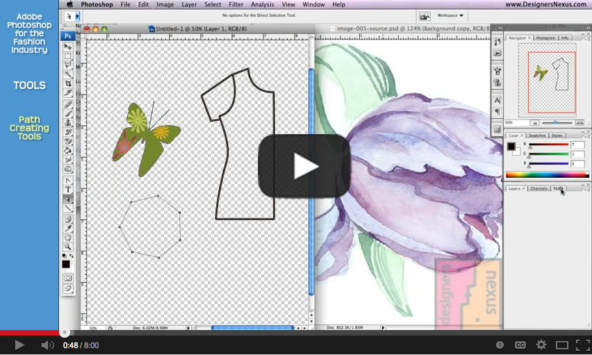 Photoshop for Fashion-10 Path Tools
