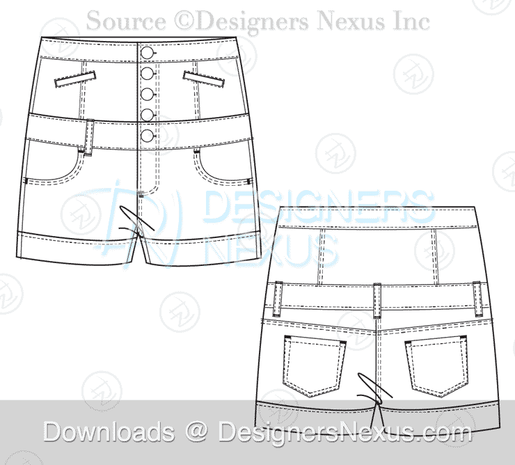 Technical Fashion Drawing 250 Free Vector Flat Fashion Sketches Flats