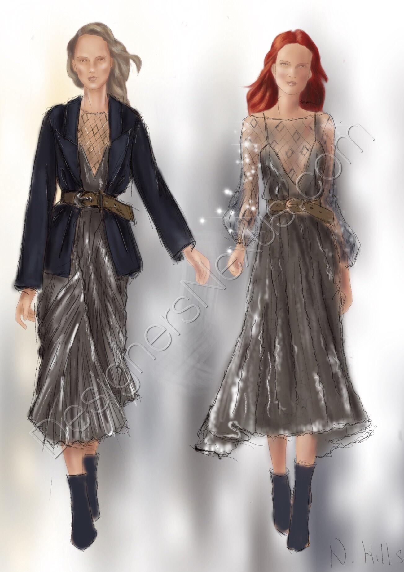fashion sketches drawingillustration 062 designers nexus